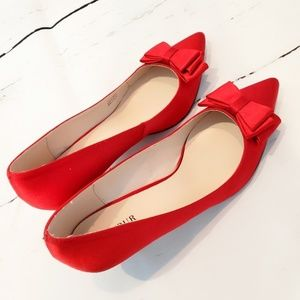 Satin Red Shoes